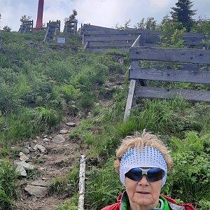 MUDr.Svatopluk Kunčar na vrcholu Lysá hora (27.6.2021 11:54)