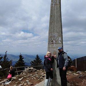 Ilona Mušálková na vrcholu Lysá hora (8.5.2019 12:40)