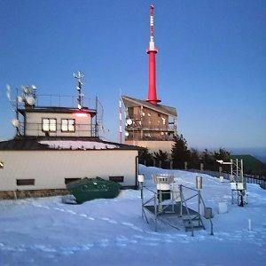 Jan Bančík na vrcholu Lysá hora (22.2.2021 18:38)