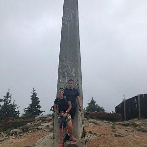Kateřina Turčeková na vrcholu Lysá hora (17.7.2021 16:00)