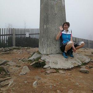 Petra Kosarkova na vrcholu Lysá hora (18.7.2021 14:23)