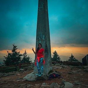 Pavlaja na vrcholu Lysá hora (20.7.2021 19:12)