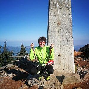 Petra Kosarkova na vrcholu Lysá hora (19.5.2019 7:38)