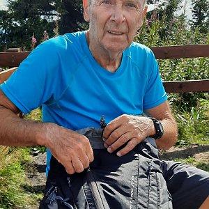 MUDr.Svatopluk Kunčar na vrcholu Lysá hora (3.8.2021 16:15)