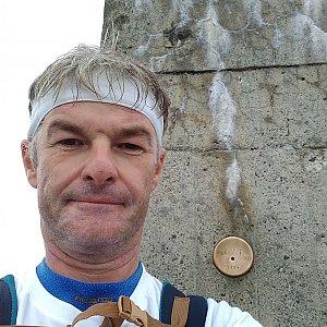 Jaroslav Macura na vrcholu Lysá hora (8.8.2021 9:05)