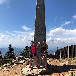 Kateřina Turčeková na vrcholu Lysá hora (11.8.2021 15:00)