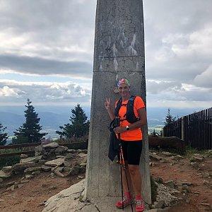 Kateřina Turčeková na vrcholu Lysá hora (17.8.2021 17:00)