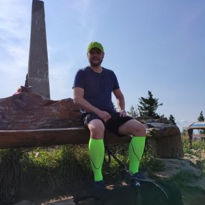 Tomáš Mucha na vrcholu Lysá hora (22.8.2021 10:20)