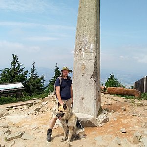 Roman Stach na vrcholu Lysá hora (17.6.2019 12:18)