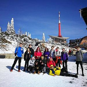 David Chlebek na vrcholu Lysá hora (24.3.2018 11:00)