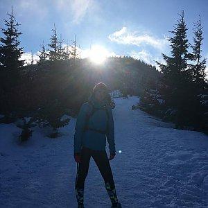 Kačaba Mikulenková na vrcholu Lysá hora (25.3.2018)