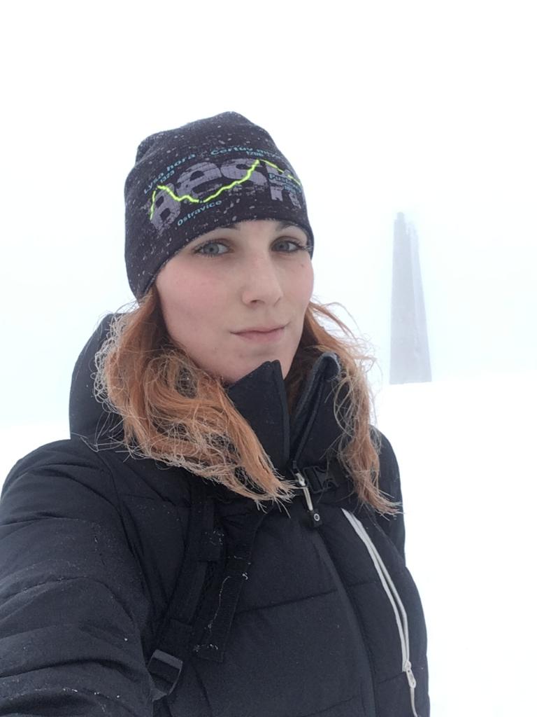 Kačaba Mikulenková na vrcholu Lysá hora (18.2.2018)