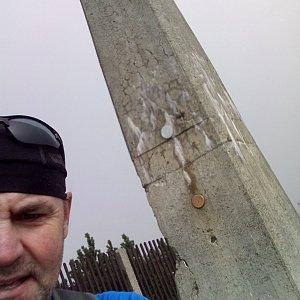 Li Be na vrcholu Lysá hora (23.9.2021 13:43)
