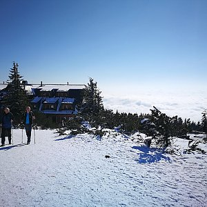 David Chlebek na vrcholu Lysá hora (30.3.2018 10:42)