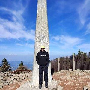 Tomáš Mucha na vrcholu Lysá hora (3.10.2021 11:15)