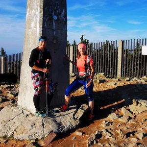Kateřina Turčeková na vrcholu Lysá hora (4.10.2021 16:00)