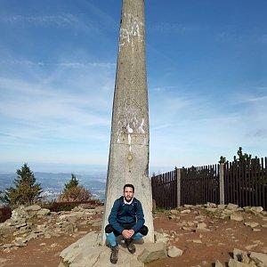 Filip Šimon na vrcholu Lysá hora (1.10.2021 10:25)