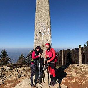 Kateřina Turčeková na vrcholu Lysá hora (9.10.2021 12:00)