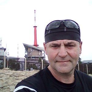 Li Be na vrcholu Lysá hora (22.7.2019 15:26)