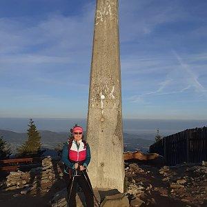 Marcela Pitříková na vrcholu Lysá hora (17.10.2021 7:57)