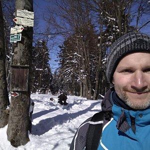 Petr Bartoň na vrcholu Tanečnice (4.3.2018 11:01)
