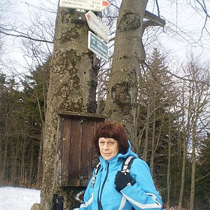 Vlasta a Zdena na vrcholu Tanečnice (10.3.2018 22:28)