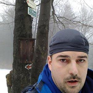 Petr Kowolowski na vrcholu Tanečnice (5.1.2018 13:13)