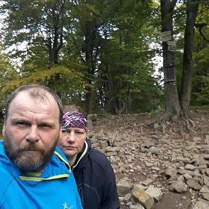 Martin a Jana Halamíčkovi na vrcholu Tanečnice (29.9.2019 10:32)