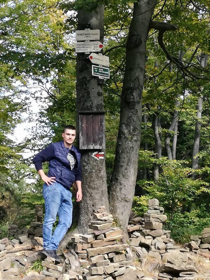 Tomáš Fojcik na vrcholu Tanečnice (28.9.2017 13:00)