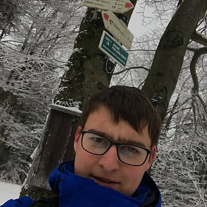 Bronislav na vrcholu Tanečnice (6.1.2020 10:30)