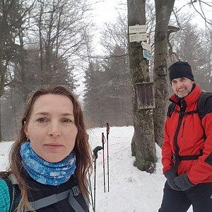 Marcela Kubíčková na vrcholu Tanečnice (11.1.2020 13:21)