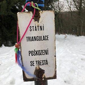 Jiří Šrámek na vrcholu Tanečnice (18.1.2020 12:57)