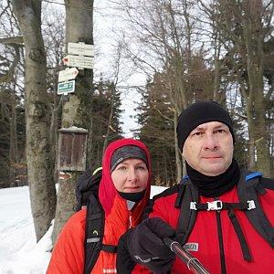 Dana + jirka na vrcholu Tanečnice (16.2.2020 10:12)