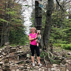Magda na vrcholu Tanečnice (12.6.2020 12:52)
