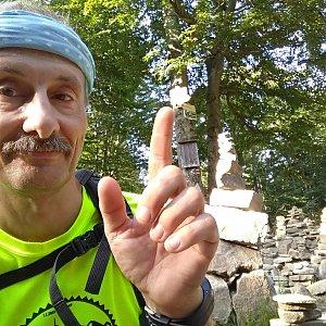 Jiří Sumbal na vrcholu Tanečnice (18.8.2018 17:20)