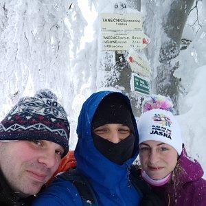 MartinMoli na vrcholu Tanečnice (13.1.2019 11:00)