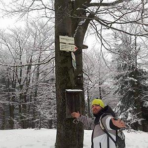 Petr Borovský na vrcholu Tanečnice (7.2.2021 12:34)