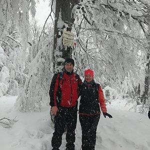 Jiří P na vrcholu Tanečnice (26.1.2019 12:06)