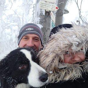 Pažitka team na vrcholu Tanečnice (27.1.2019 18:43)