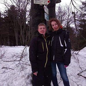 Bohumila Toufarová na vrcholu Tanečnice (2.2.2019 16:05)
