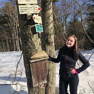 Nicole na vrcholu Tanečnice (10.2.2019)