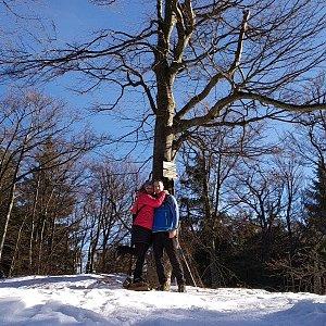 I+L Rajnochovi na vrcholu Tanečnice (18.2.2019 9:36)