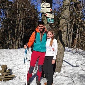 Kazla na vrcholu Tanečnice (27.2.2019 12:57)