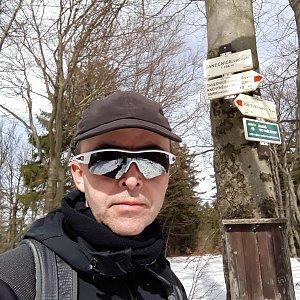 Pavel Skřičík na vrcholu Tanečnice (17.3.2019 12:19)