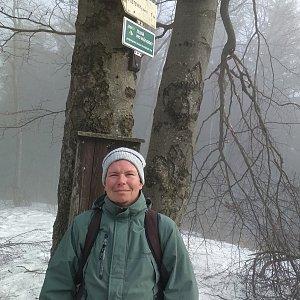 Michal Krčmář na vrcholu Tanečnice (24.3.2019 9:07)