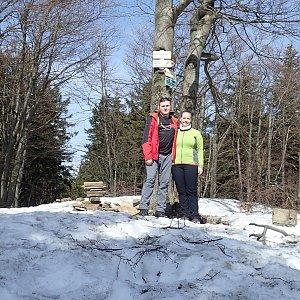 Janča na vrcholu Tanečnice (30.3.2019 13:35)
