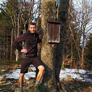 PeteBukař na vrcholu Tanečnice (10.4.2019 17:30)