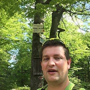 Radim Škrabánek na vrcholu Tanečnice (2.6.2019 9:46)