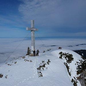 Jenda na vrcholu Traunstein (25.1.2018 15:30)