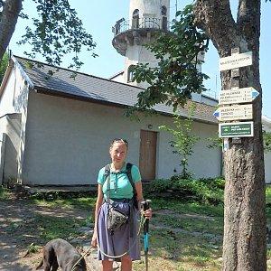 Manjula na vrcholu Milešovka (12.8.2020 11:45)